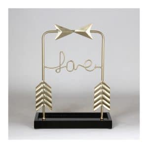 """LOVE"" Arrow Table Décor"