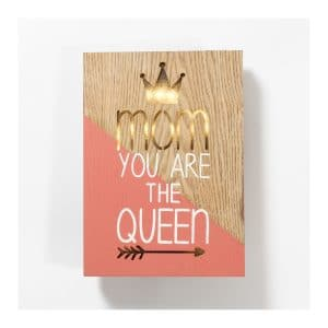 """Mom You Are The Queen"" LED Light Box"
