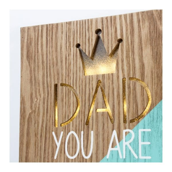 """""""Dad You Are The King"""" LED Light Box"""