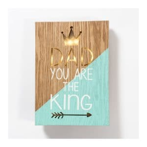 """Dad You Are The King"" LED Light Box"