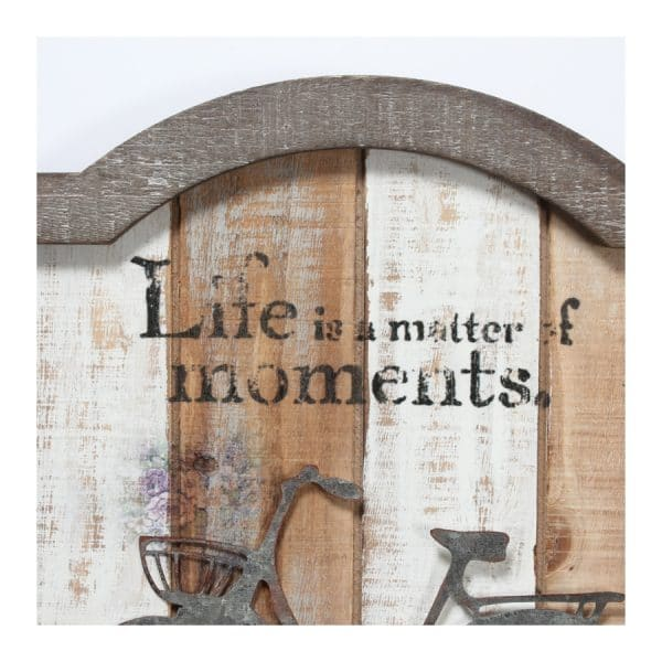 """Life is Matter.."" Wall Plaque w/3 Hooks"