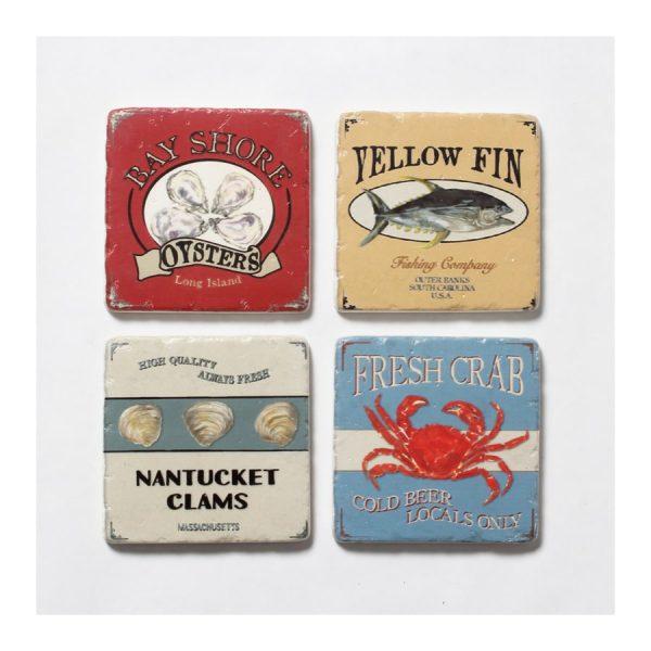 Sea Creatures Resin Coaster - S4