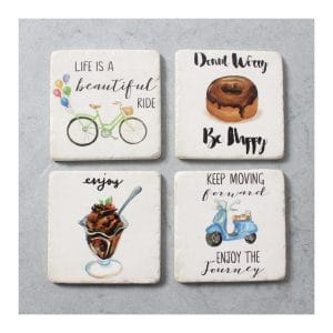 Bike/Donut/Ice Cream Resin Coaster - S4