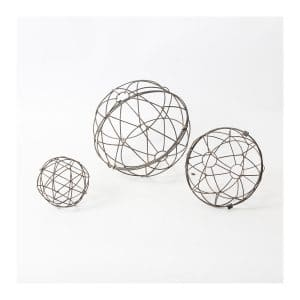 Metal Ball Décor S/3