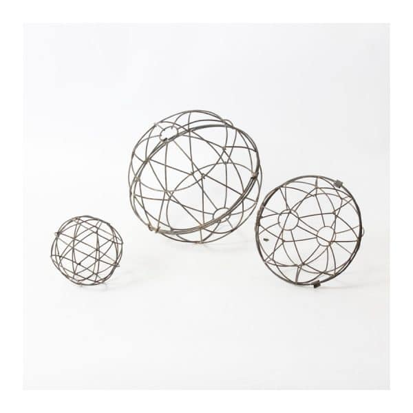 Metal Ball Décor S/3