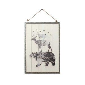 Fox/Reindeer/Bear Hanging Wall Plaque