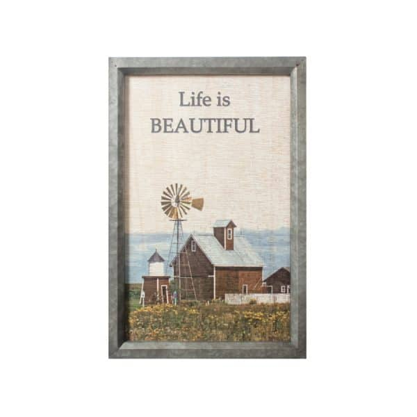 """Life is Beatuiful"" Wall Décor"