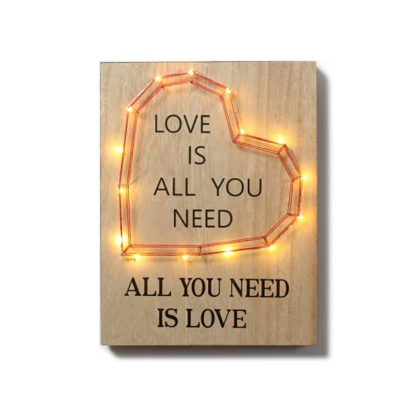 """""""Love is All You …"""" Heart LED w/ Décor"""