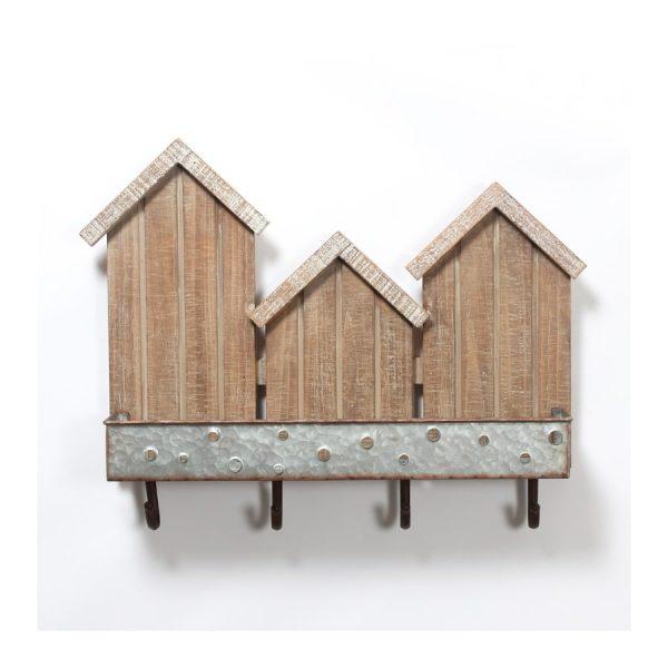 3 Houses Wall Décor w/Hooks