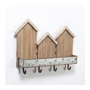 3 Houses Wall Décor w/Hooks