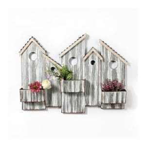 Wall Metal House With Planters