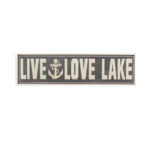 Live/Love Lake Wall Art