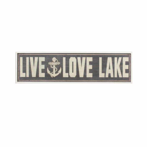 Live/Love Lake Wall Art