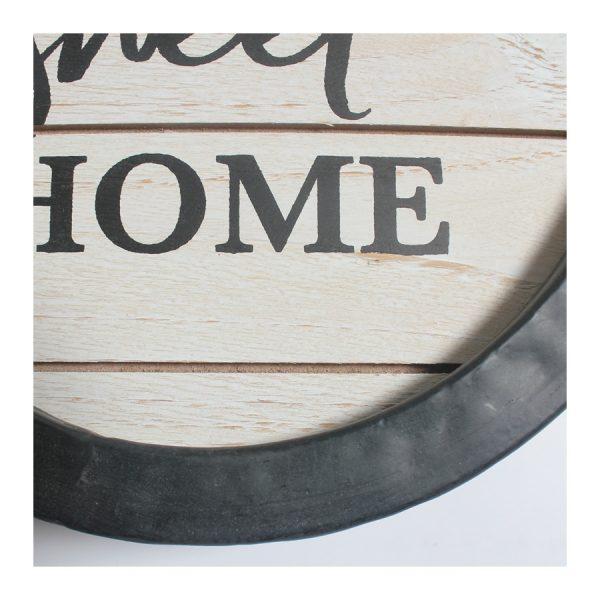 """""""Home Sweet Home"""" BLK Framed Rd Wall Art"""