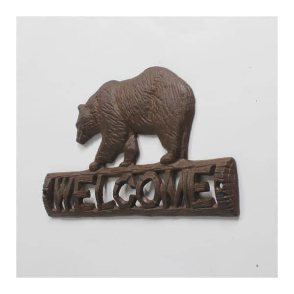"""Bear """"WELCOME"""" Sign"""