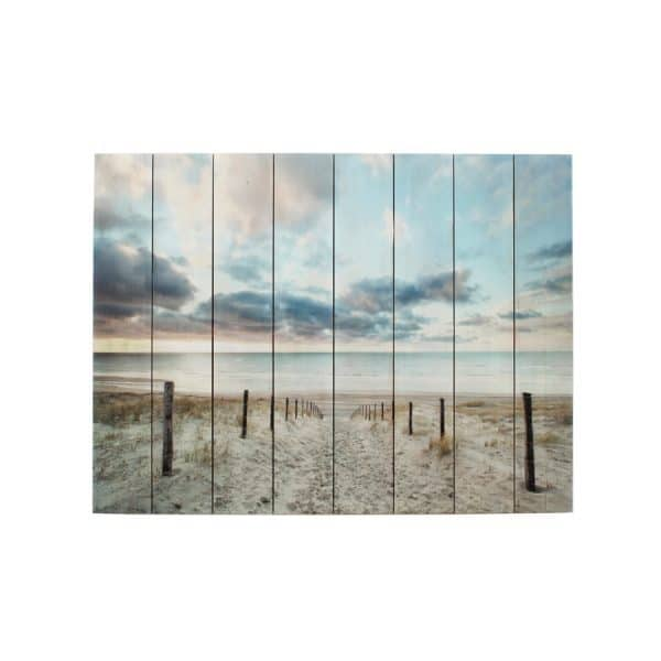Path to Beach Flat Bed Printing on Wood