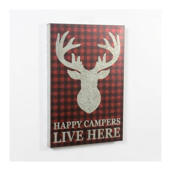 Metal Sign - Happy Campers Live Here