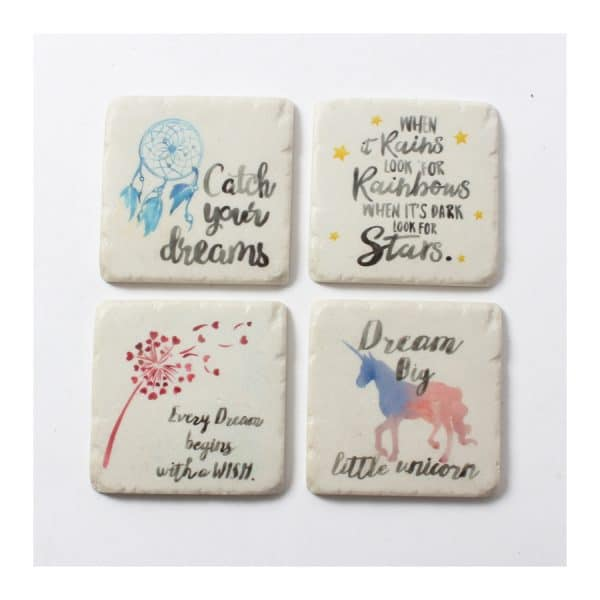 Dream Catcher / Unicorn S/4 Coaster