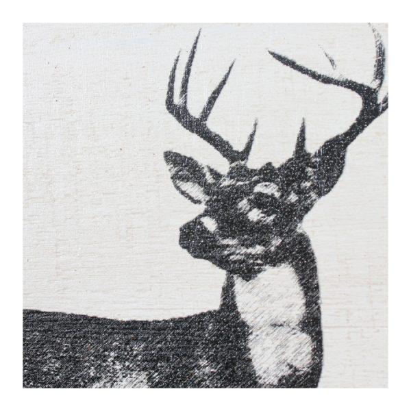 Tree Trunk Wall Décor - Deer