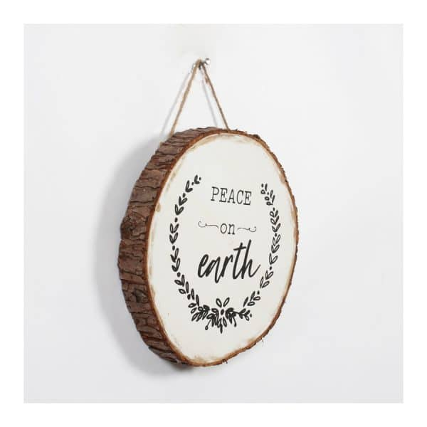 """Peace on Earth"" Hanging Plaque"