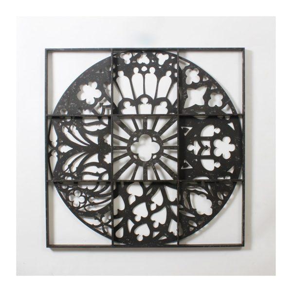 Multi Pattern Circle in 9 Grid Wall Art