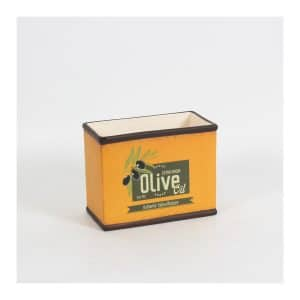 """Olive Oil"" Orange Rect Pot - Small"