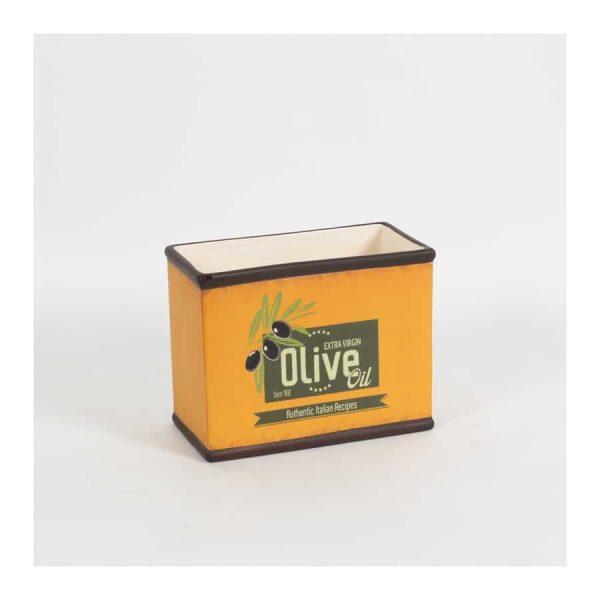 """""""Olive Oil"""" Orange Rect Pot - Small"""