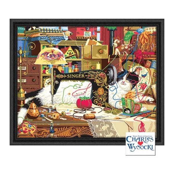 """Palmer Paints Deluxe Paint By Number -Maggie the Messmaker by Charles Wysocki 20"""" x 16"""""""