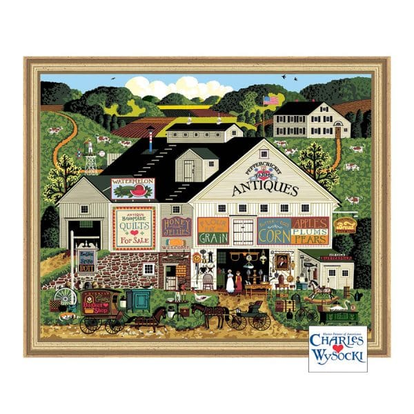 """Palmer Paints Deluxe Paint By Number -Peppercricket Farms by Charles Wysocki 20"""" x 16"""""""