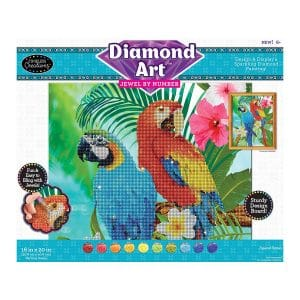 Diamond Art Jewel By Number -Tropical Parrots