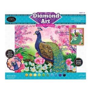 Diamond Art Jewel By Number -Exotic Peacock