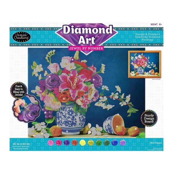 Diamond Art Jewel By Number -Floral Romance