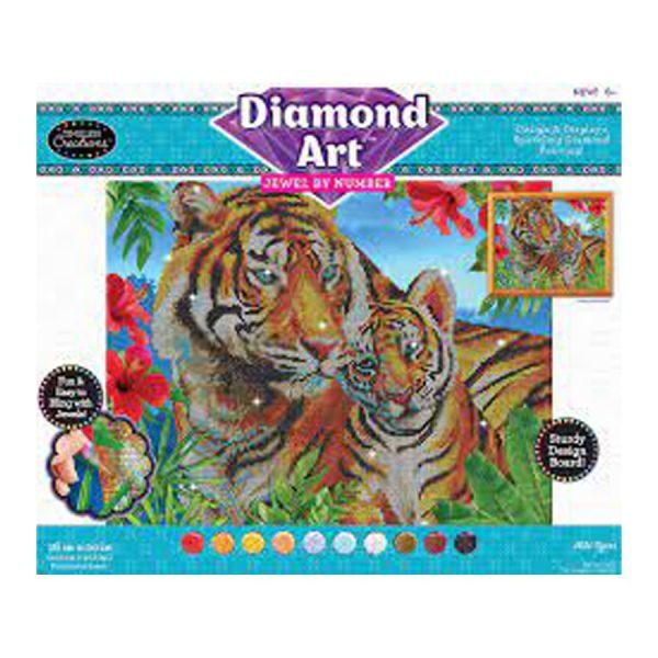 Diamond Art Jewel By Number -Wild Tigers