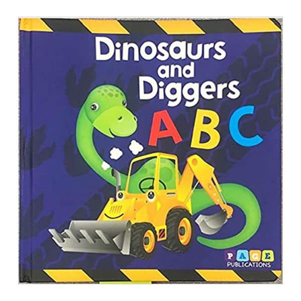 Dinosaurs and Diggers ABC Children's Padded Board Book