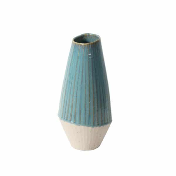 Liber White/Blue Vase - Large