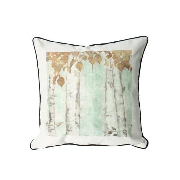 Yellow Leave Trees Design Throw Pillow
