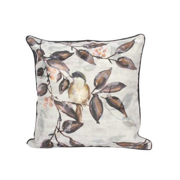 Birds On Leaves Design Throw Pillow