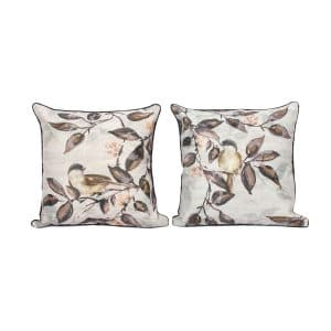 Birds On Leaves Design Throw Pillow