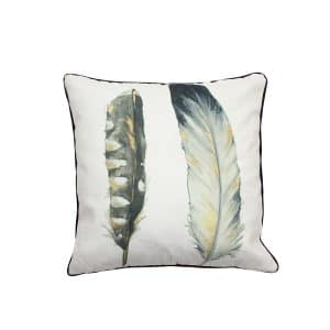 Narrow Feathers Design Throw Pillow