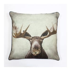 Moose Design Throw Pillow