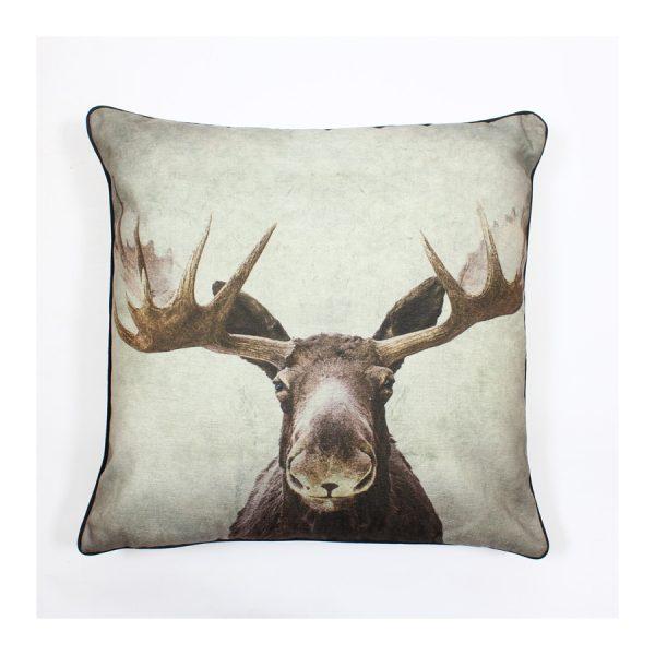 Moose Design Throw Pillow