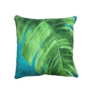 Monstera Open Leaf Design Throw Pillow