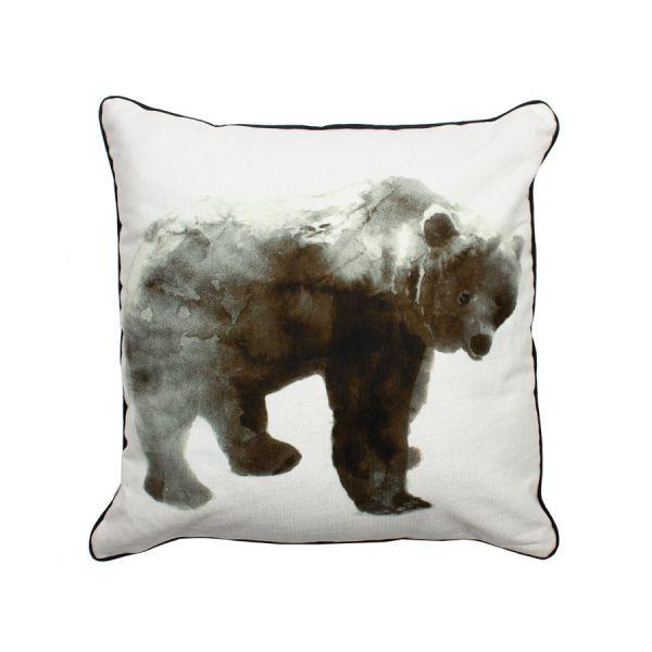 Bear Design Throw Pillow