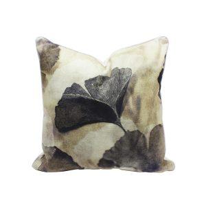 Ginko Leaf Design Throw Pillow