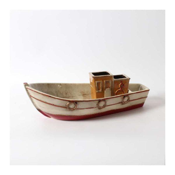 Pleasure Boat Ceramic Décor