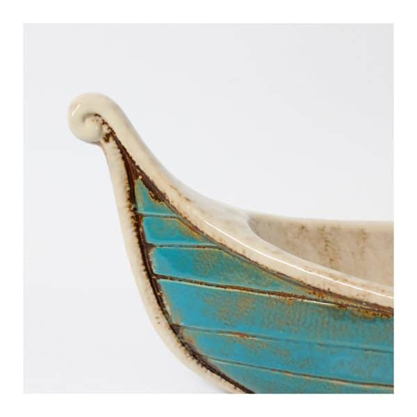 Ceramic Boat Table Décor - Blue