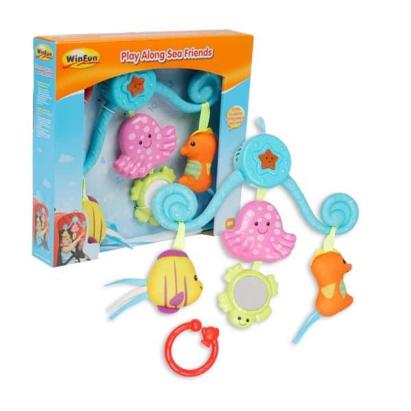 Play Along Sea Friends Clip On Stroller Activity Toy