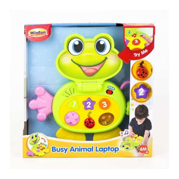 Busy Animal Laptop Frog