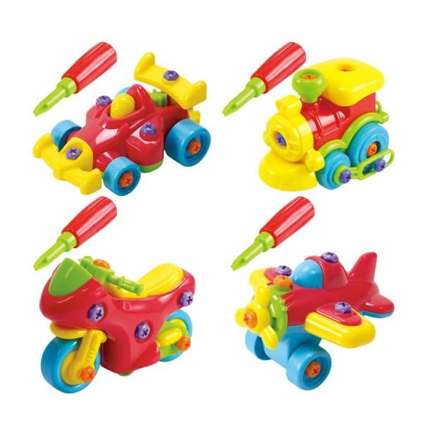 Playgo Junior Mechanic Motorcycle, Race Car & Plane Playset