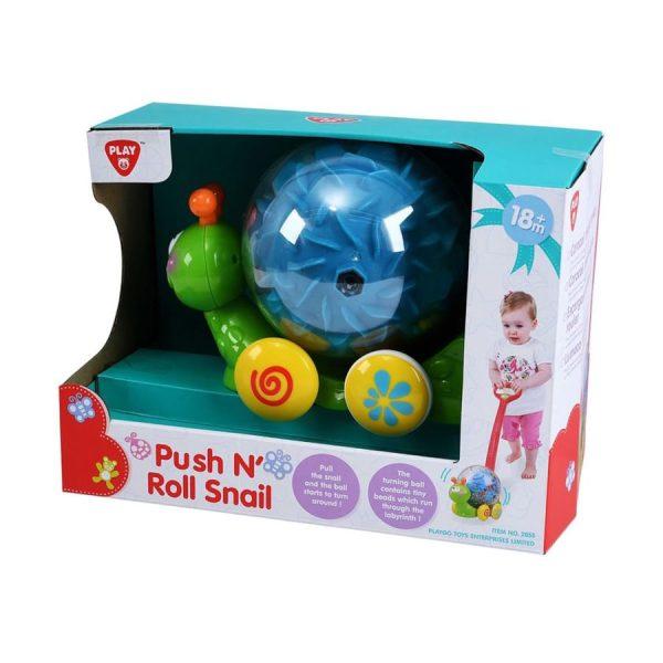Playgo Push N Roll Snail